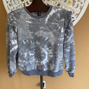 Sweatshirt material grey and white Tie-dye look